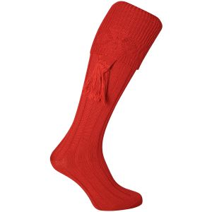 Jack Pyke Plain Shooting Socks Red