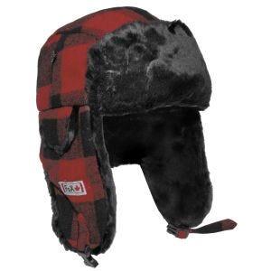 Fox Outdoor Lumberjack Fur Hat Red / Black