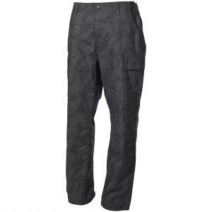 MFH BDU Combat Trousers Ripstop Night Camo