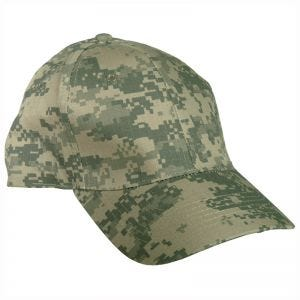Mil-Tec Baseball Cap with Plastic Band Ripstop ACU Digital