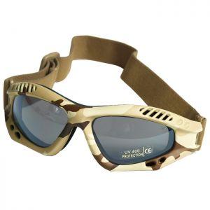Mil-Tec Commando Goggles Air Pro Smoke Lens Desert Frame