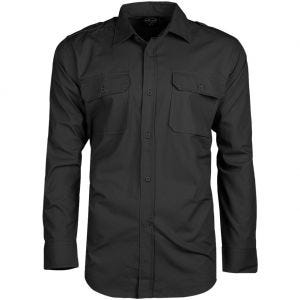 Mil-Tec RipStop Shirt Long Sleeve Black