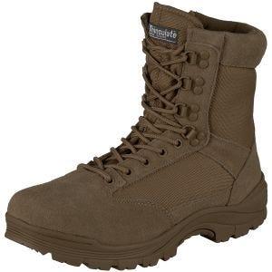 Mil-Tec Tactical Side Zip Boots Brown