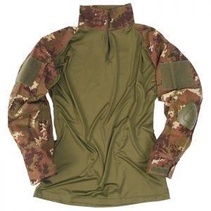 Mil-Tec Warrior Shirt with Elbow Pads Vegetato Woodland